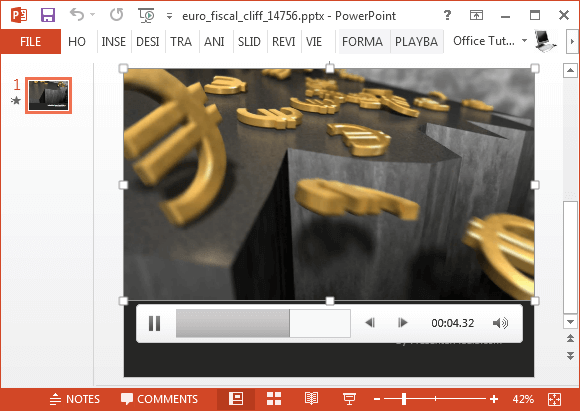 Euro fiscal cliff video animation for PowerPoint