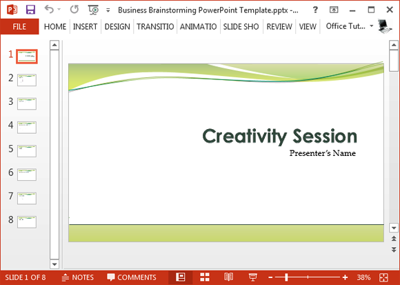 Free business brainstorming powerpoint template for Well designed powerpoint templates