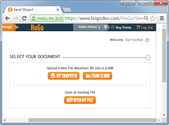 HogoDoc secure file sharing