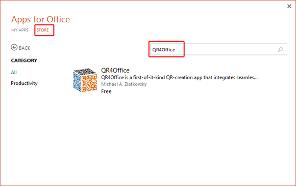 Install QR4Office add-in