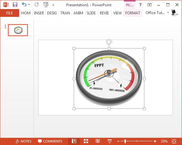 Minimum success gauge PowerPoint animation