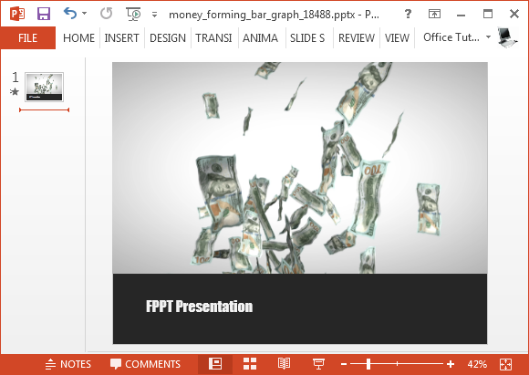 Money video animation for PowerPoint