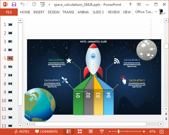 Animated space powerpoint template rocket infographic for powerpoint toneelgroepblik Image collections