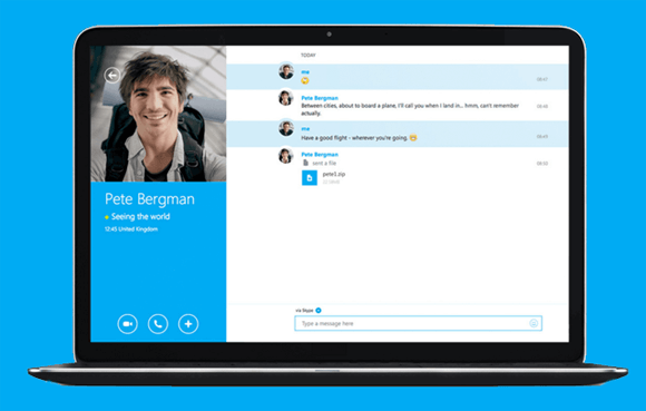 Screen sharing with Skype