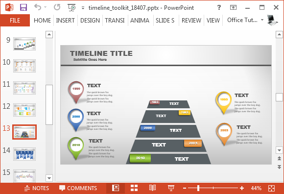 Animated Timeline Generator Template For PowerPoint - Timeline roadmap template