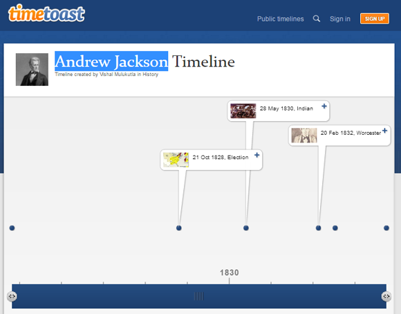 timetoast picture based online timeline generator