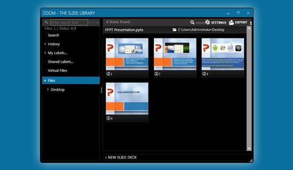 Zoom slide management