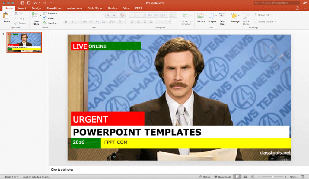 using a free breaking news generator to make an engaging, Modern powerpoint