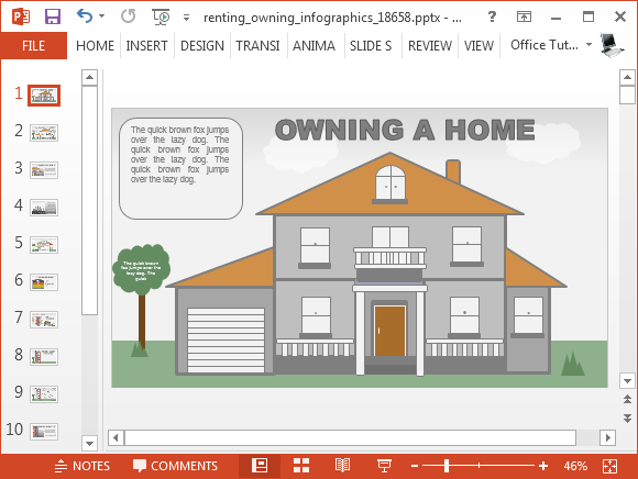 Animated Rent Powerpoint Template