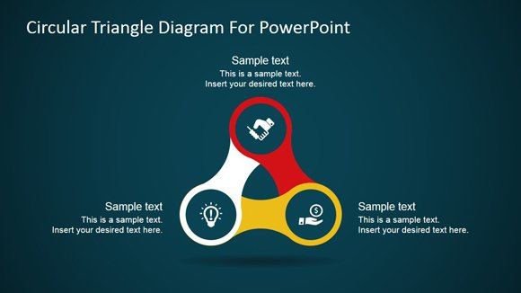 circular triangle diagram for powerpoint fppt