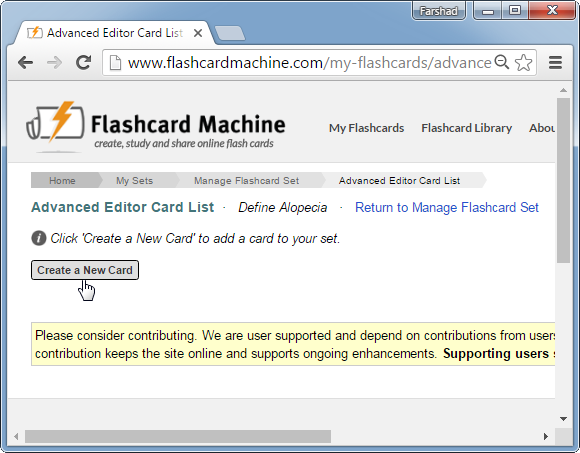 Flashcard Machine: Create Flashcards To Conduct Study Sessions