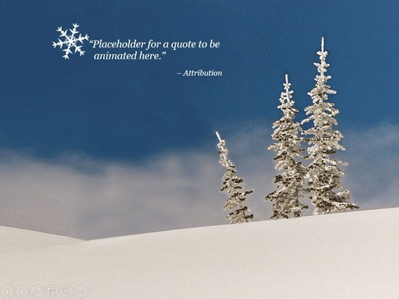 free animated snow powerpoint template, Modern powerpoint