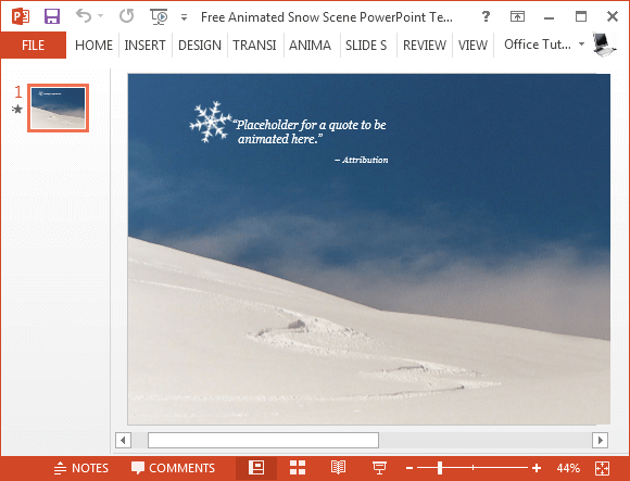 Free animated snow powerpoint template free snow scene powerpoint template toneelgroepblik Image collections