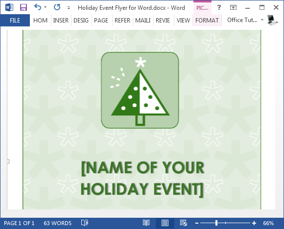 Free holiday flyer template for word holiday event flyer for word saigontimesfo