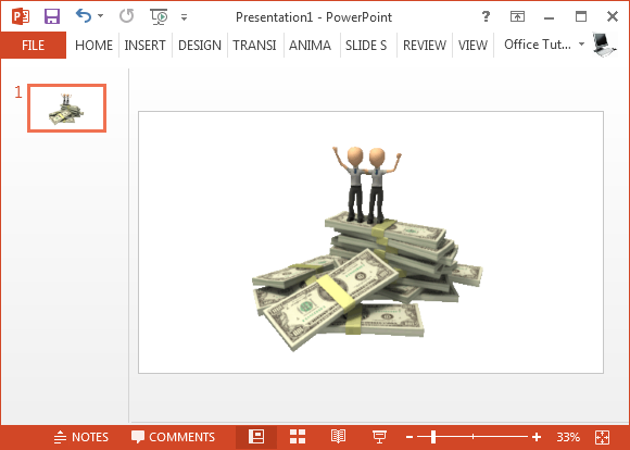 On top of money animated clipart