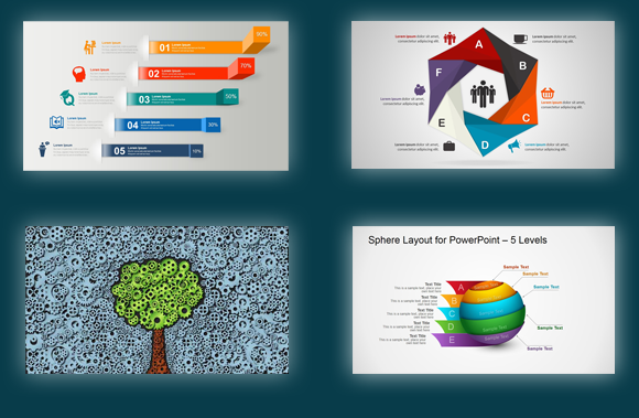 best powerpoint templates & diagrams with editable shapes, Modern powerpoint