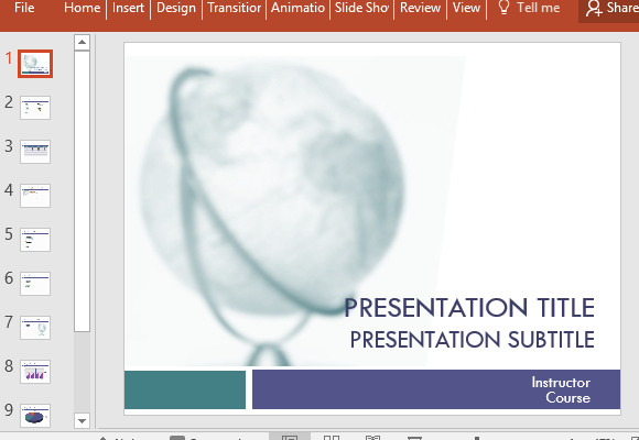 college presentation template for powerpoint