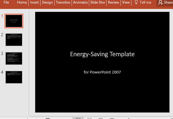 Energy Saving Powerpoint Template