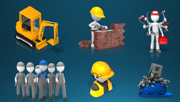 Best construction clipart for PowerPoint