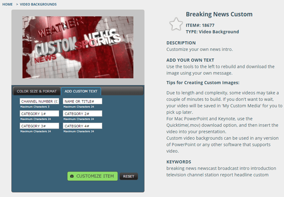 Breaking news video background for PowerPoint - FPPT