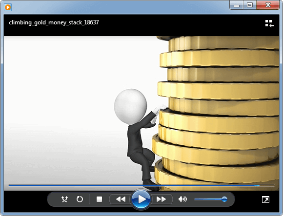 Climbing gold stack video background
