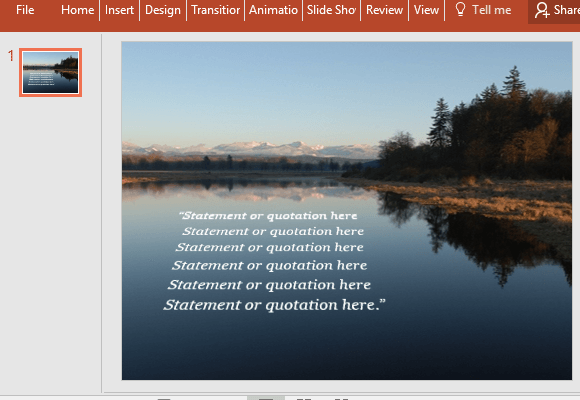 Editable quotation slide