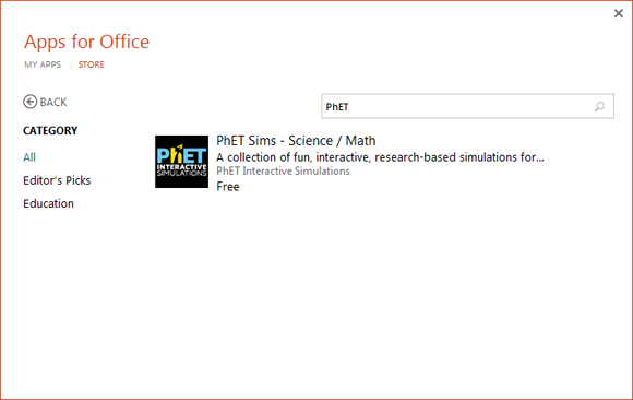 Install PhET add-in for PowerPoint