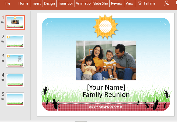 Free Family Reunion PowerPoint Template