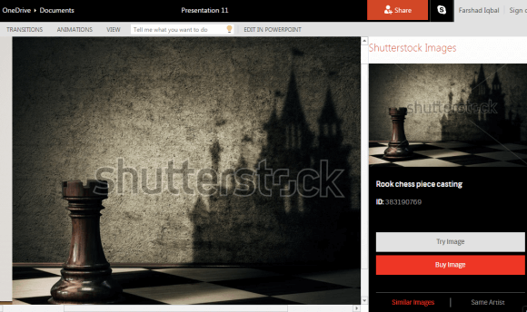 Shutterstock Add-in For PowerPoint Presentations