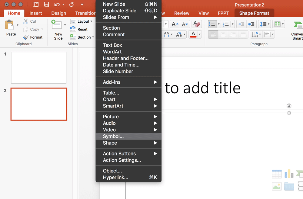 How To Insert A Plus Minus Character In Powerpoint