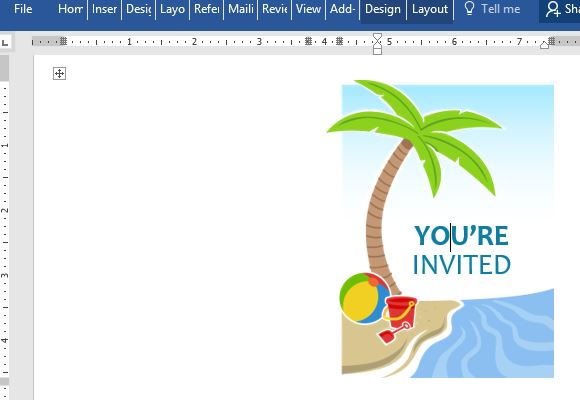 summer party invitation template free