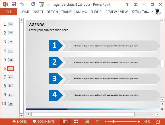 Agenda list powerpoint template fppt toneelgroepblik Image collections