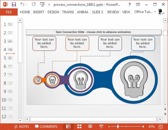 Animated process diagram slide