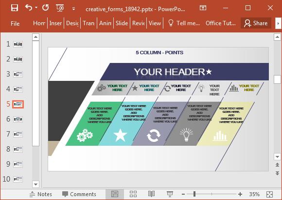 Column infographic slide
