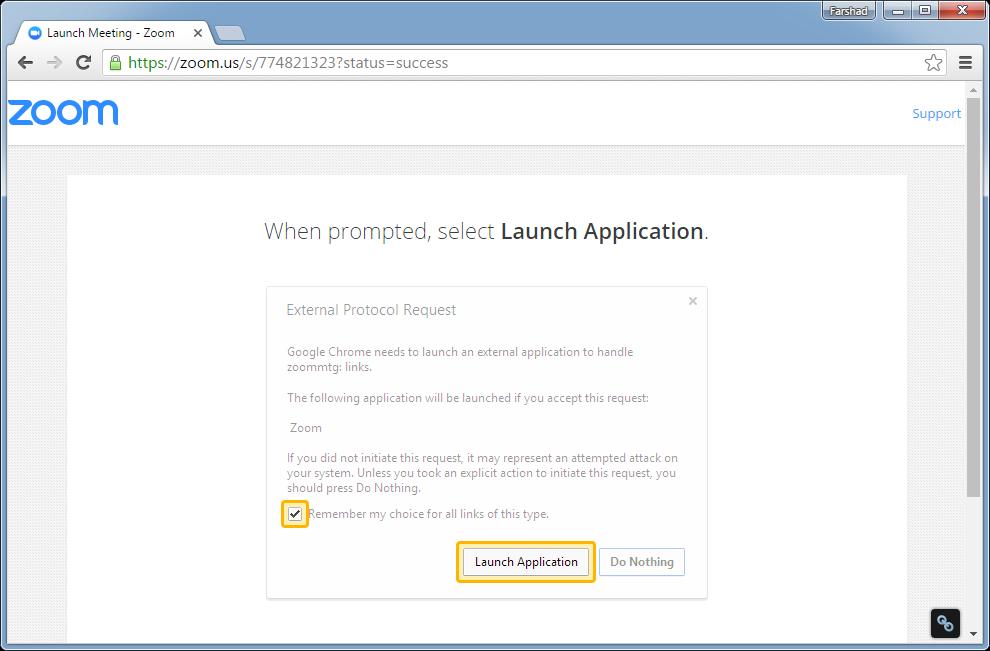 Download Zoom launcher