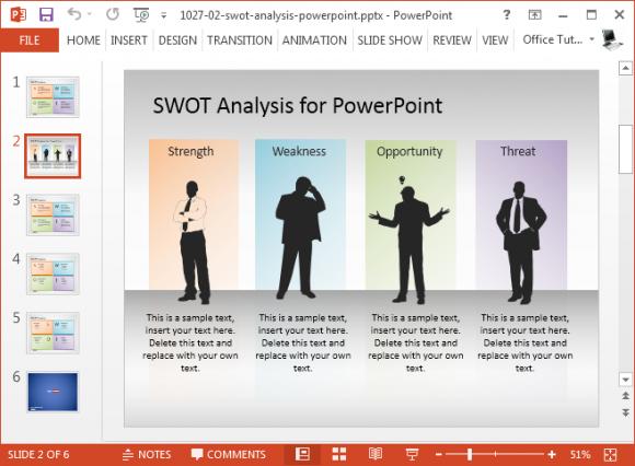 Free Swot Analysis Presentation Template Fppt