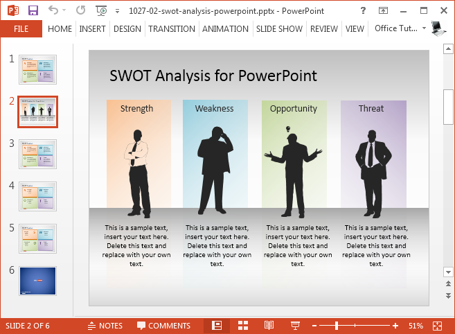Best swot powerpoint templates free swot analysis presentation template maxwellsz
