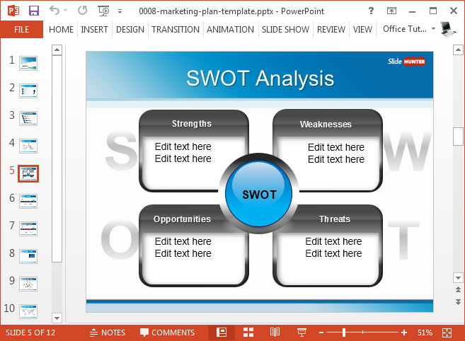 Best swot powerpoint templates free marketing plan powerpoint template toneelgroepblik Gallery