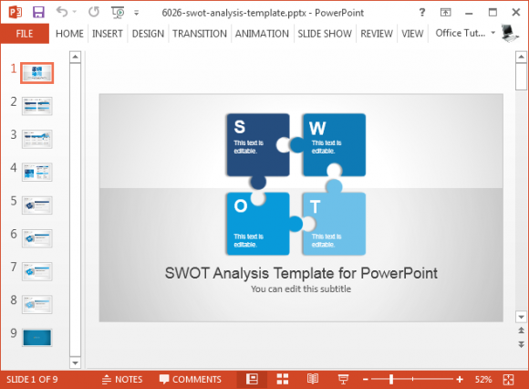 Premium Swot Analysis Powerpoint Template Fppt