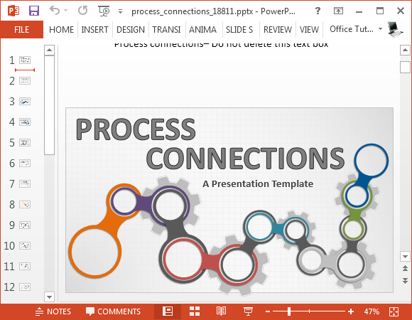 Animated Process Connections Powerpoint Template