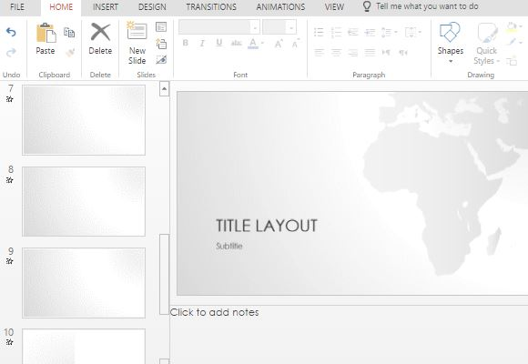 free africa map powerpoint template, Modern powerpoint