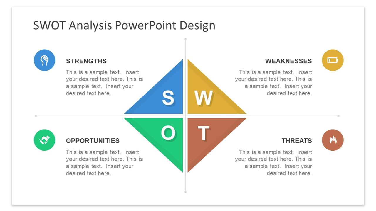 Diamond Swot Analysis Powerpoint Template Fppt