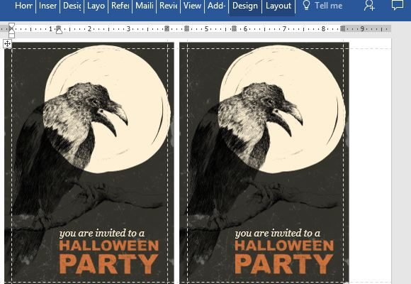 free halloween party postcard template for word