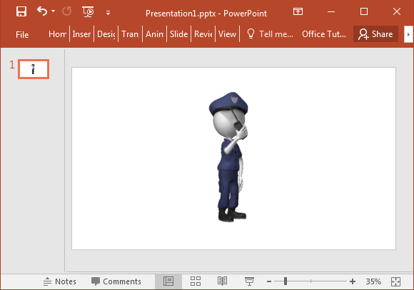 Animated policeman clipart