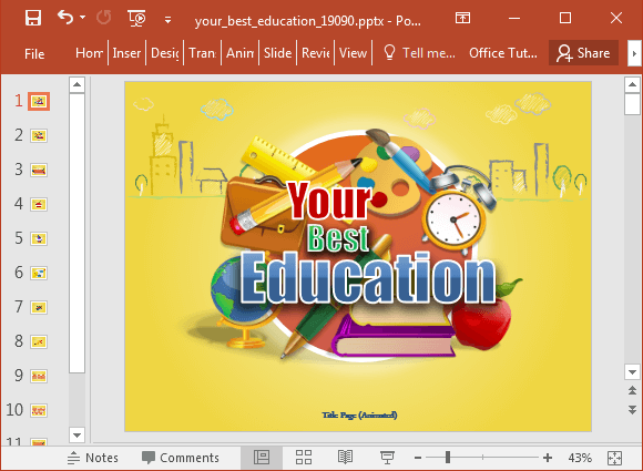 Animated best education powerpoint template best education powerpoint template toneelgroepblik Gallery