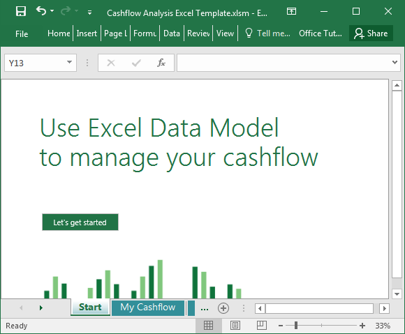 Cashflow analysis Excel 2016 template
