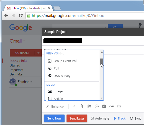 Conduct surveys using Gmail