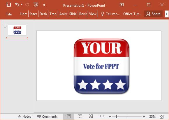 Custom message voting square clipart