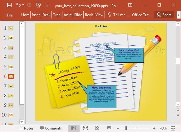 Edit educational slides
