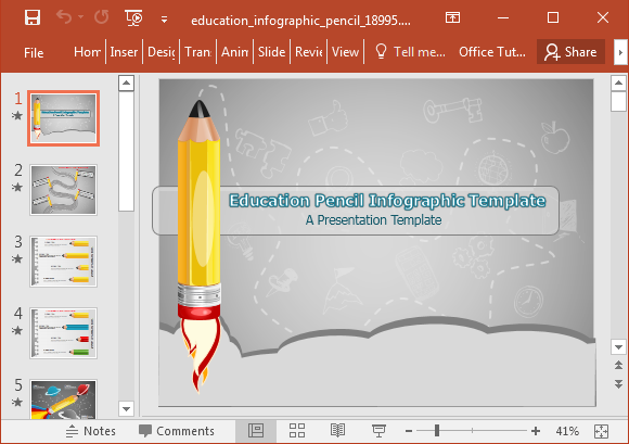 animated education infographic powerpoint template, Modern powerpoint